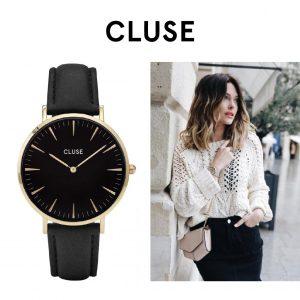 Relógio Cluse® La Bohème Gold Black/Black | 38MM