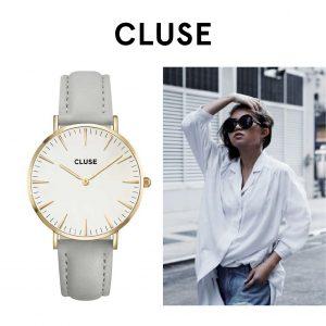 Relógio Cluse® La Bohème Rose Gold White/Grey | 38MM