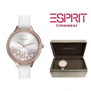 Relógio Esprit® Conjunto Heart Rose Gold | Com Oferta Pulseira