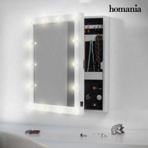 Espelho Guarda-Joias de Parede Com LED Homania