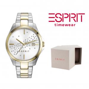 Relógio Esprit® Cecilia   Prateado e Dourado