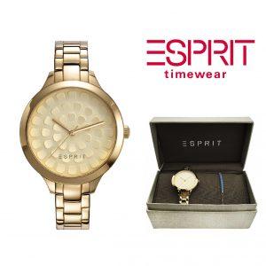 Relógio Esprit® Conjunto Flower Gold   Com Oferta Pulseira