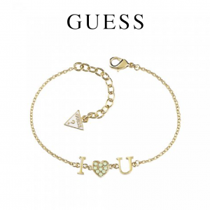 Guess® Pulseira Kiss and Love | Dourado