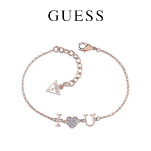 Guess® Pulseira Kiss and Love | Rose Gold