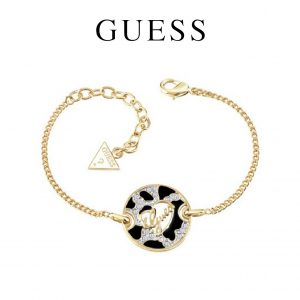 Guess® Pulseira Animal Logo Disc Gold