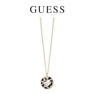 Guess® Colar Animal Logo Disc Gold