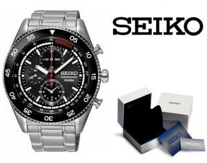 Relógio Seiko® Chronograph Black