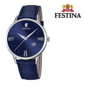 Relógio Festina® Luna Blue Dial Silver | 42MM