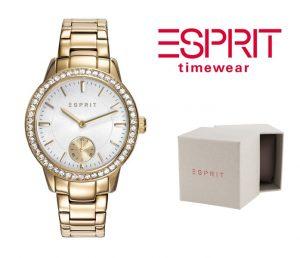 Relógio Esprit® Essentials Crystals | Gold