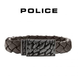 Pulseira Police® Alligator Brown | 18cm