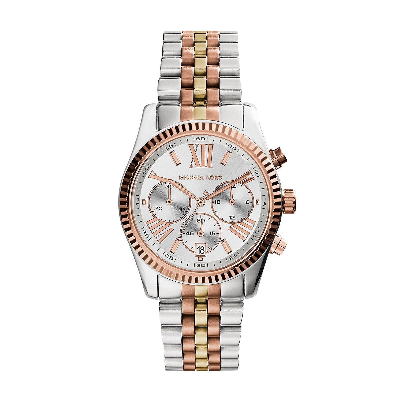 4a9bfdc636b5 Michael Kors® Lexington Chronograph Tri-Tone Watch