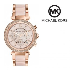 Relógio Michael Kors® Parker Blush and Rose Gold-Tone  | 10ATM
