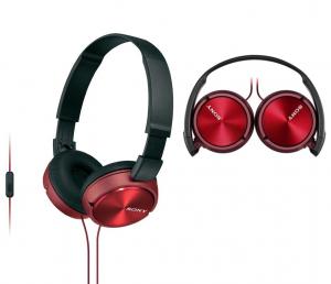 Auriculares de Diadema Sony Vermelho