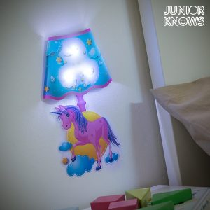 Adesivo de Parede LED Unicórnio Junior Knows