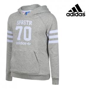 Adidas® Hoody Cinza e Branco