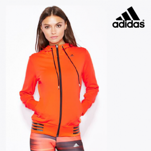 Adidas® Workout Hoody Solar Red