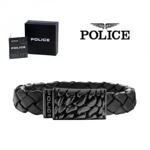 Pulseira Police® Alligator Black | 18cm
