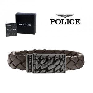 Pulseira Police® Alligator Brown | 18cm