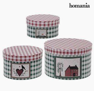 Caixa Decorativa Redonda Homania (3 uds) Papelão