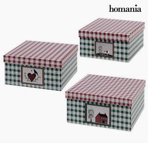 Caixa Decorativa Homania (3 unidades) Papelão
