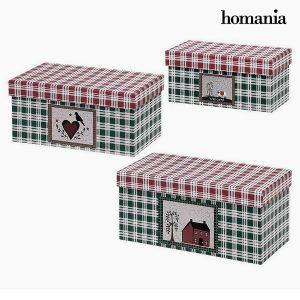 Caixa Decorativa Homania (3 uds) Papelão
