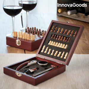 Conjunto de Acessórios para Vinho e Xadrez 37 Peças - VEJA O VIDEO