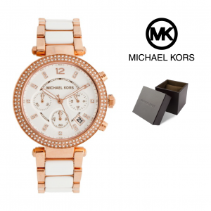 Relógio Michael Kors® Parker White and Rose Gold | 10ATM