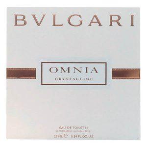 Women's Perfume Omnia Crystalline Bvlgari EDT satin pouch 25 ml