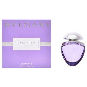 Women's Perfume Omnia Amethyste Bvlgari EDT satin pouch 25 ml
