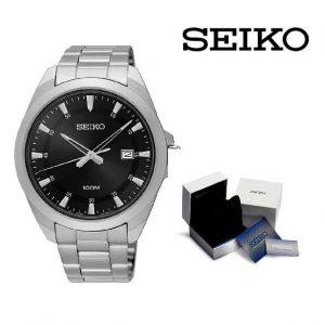 Relógio Seiko® Black on Silver