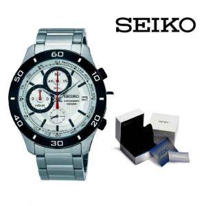 Relógio Seiko® Carbon Silver
