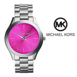 Relógio Michael Kors® Runway Rosa Prateado   3ATM