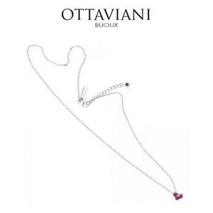 Ottaviani® Colar Silver Heart Pink