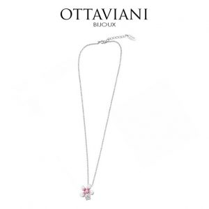 Ottaviani® Colar Flower Pink & White