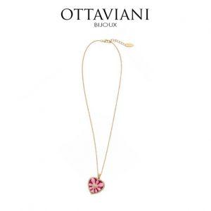 Ottaviani® Colar Gold Heart Pink