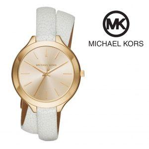 Relógio Michael Kors® Slim Runway White/Gold | 5ATM