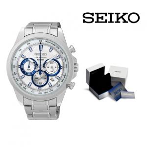 Relógio Seiko® Neo Sports | Branco e Azul | 10ATM