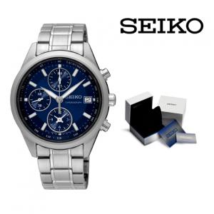Relógio Seiko® Blue and Silver | 5ATM