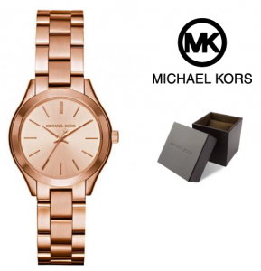 Relógio Michael Kors® Mini Slim Runway Rose Gold | 5ATM