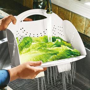 Escorredor de Legumes Versátil Compacto