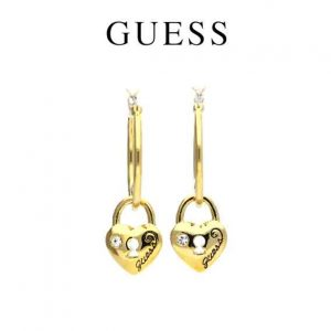 Brincos Guess® Golden LockedHeart