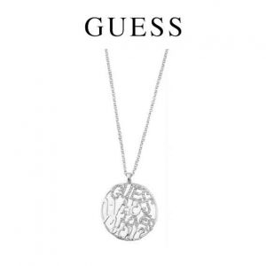 Colar Guess® Guess Who Loves You? silver