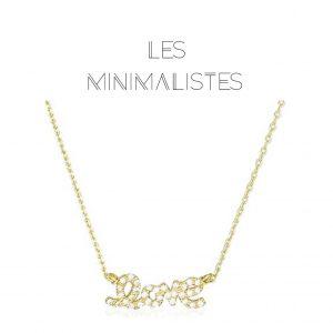 Les Minimalistes® Colar Shiny Love Gold