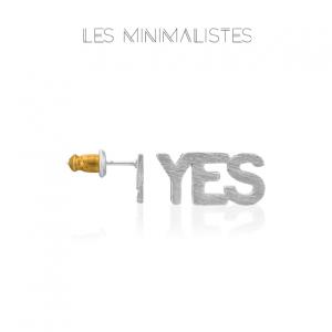 Les Minimalistes® Brincos YES Silver