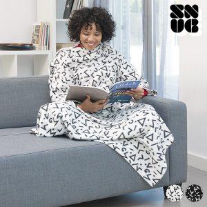 Manta Com Mangas Symbols Snug Big Kangoo Branco ou Preto