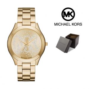Relógio Michael Kors® Slim Runway Logo Gold | 5ATM