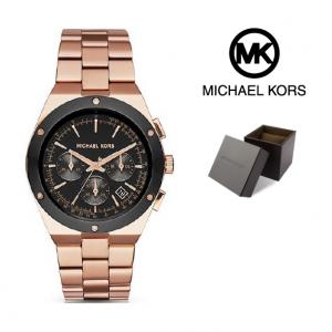 Relógio Michael Kors® Reagan Black Dial Rose Gold | 10ATM
