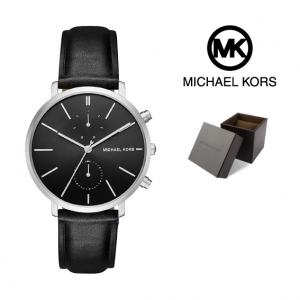 Relógio Michael Kors® Jaryn Black Leather | 5ATM