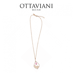 Ottaviani® Colar Bright Pink | Rose Gold