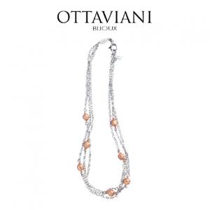 Ottaviani® Colar Classic Elegance | Prateado e Rose Gold